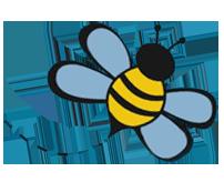Bienen Icon: Bio Honig von der Mühle