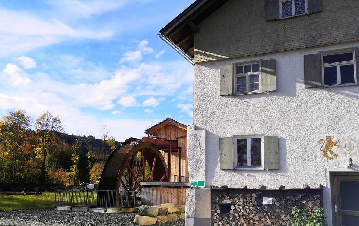 Alte obere Mühle in Wertach im Allgäu