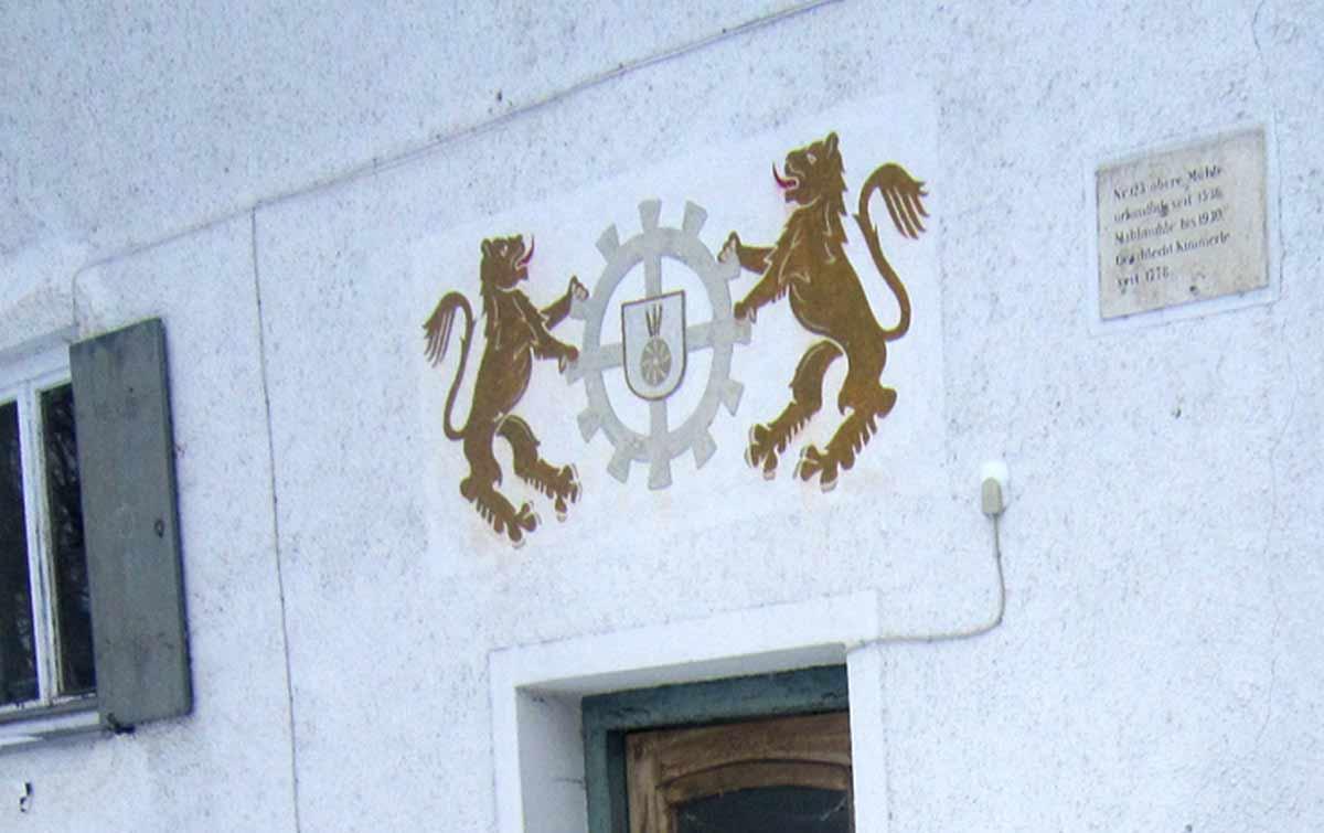 Wappen der Oberen Mühle Wertach
