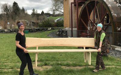Vielseitig begabtes Mühlenteam: Pia und Annette
